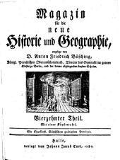 Magazin für die neue Historie und Geographie: Band 14
