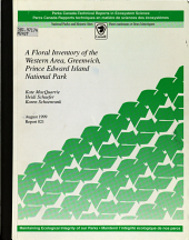 A Floral Inventory of the Western Area  Greenwich  Prince Edward Island National Park PDF