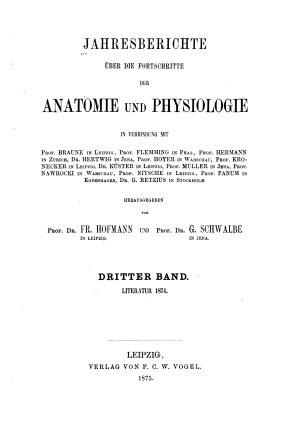 Jahresbericht   ber die Fortschritte der Anatomie und Physiologie PDF