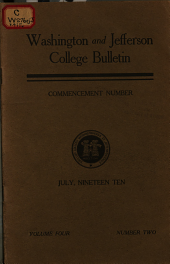 Bulletin: Commencement Number, Volume 4, Issue 2
