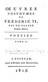 Oeuvres primitives de Fréderic II, roi de Prusse; ou, Collection des ouvrages qu'il publia pendant son règne: Volume12
