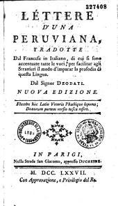 Lettres d'une Péruvienne [par Mme de Grafigny], traduites du français en italien... par Mr. Deodati...