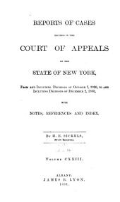 Reports of Cases Decided in the Court of Appeals of the State of New York: Volume 123