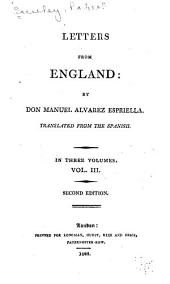 Letters from England: Volume 3