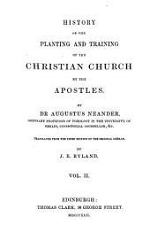 History of the planting and training of the Christian Church by the Apostles, tr. by J.E. Ryland