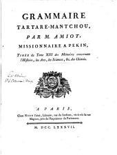 Grammaire tartare-mantchou