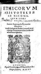 Ethica Aristotelis ad Nicomachum