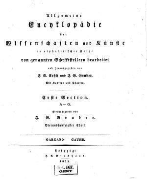Allgemeine Encyclop  die der Wissenschaften und K  nste PDF