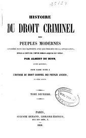 Histoire du droit criminel des peuples modernes: (1854. 678 p.)
