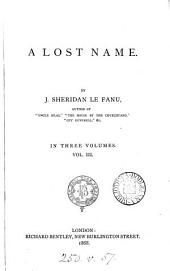 A lost name: Volume 3