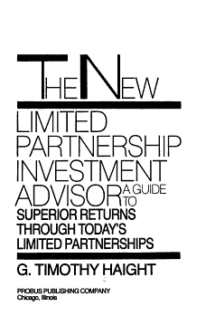 The New Limited Partnership Investment Advisor PDF