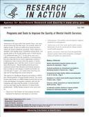Programs And Tools To Improve The Quality Of Mental Health Services