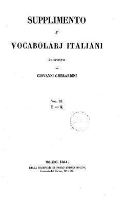 Supplimento a vocabolarj italiani PDF