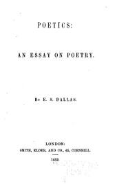 Poetics: An Essay on Poetry