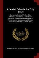 A Jewish Calendar For Fifty Years Book PDF