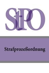 Strafprozeßordnung - StPO