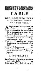 Les Souffrances de Nôtre-Seigneur Jesus-Christ Ouvrage écrit en Portugais par le P. Thomas de Jesus..., Et traduit en François par le P. G. Alleaume...