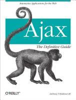 Ajax  The Definitive Guide PDF