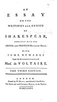 An Essay on the writings and genius of Shakespeare  By Mrs  Montagu      Second edition PDF