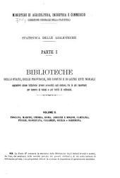 Statistica delle biblioteche: Parte 1,Volume 2