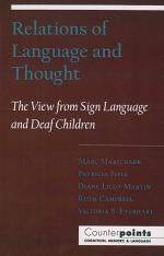Relations of Language and Thought