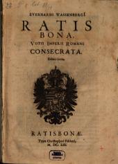 Ratisbona, votis imperii Romani consecrata
