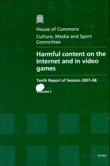 Harmful Content on the Internet and in Video Games PDF