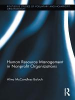 Human Resource Management in Nonprofit Organizations PDF