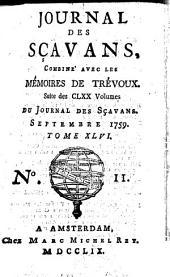 Journal des sçavans combiné avec les Mémoires de Trévoux: suite des 170 vol. du Journal des sçavans, Volume 46