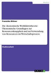 Die ökonomische Wohlfahrtstheorie: Ökonomische Grundlagen zur Ressourcenknappheit und zur Verwendung von Ressourcen im Wirtschaftsprozess