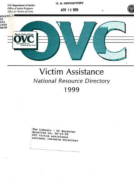 OVC Victim Assistance National Resource Directory