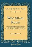 Who Shall Rule  PDF