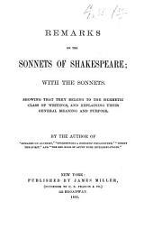 Remarks on the Sonnets of Shakespeare: With the Sonnets