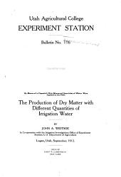 The Production of Dry Matter with Different Quantities of Irrigation Water: Volumes 115-120
