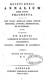Quinti Ennii Annalium libb. XVIII fragmenta
