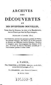 Archives des Decouvertes Et Des Inventions Nouvelles, Faites dans les Sciences, les Arts et les Manufactures, tant en France que dans les Pays etrangers: Volume5