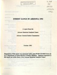 Street Gangs in Arizona PDF