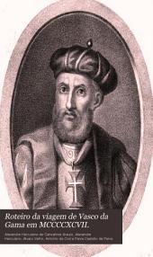 Roteiro da viagem de Vasco da Gama em MCCCCXCVII.
