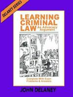 Learning Criminal Law as Advocacy Argument PDF