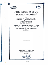 The Successful Young Woman PDF