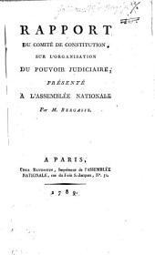 Rapport Du Comité De Constitution Sur L'Organisation Du Pouvoir Judiciaire