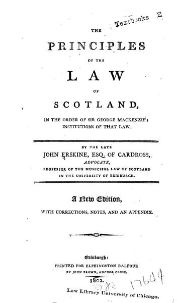 Download The Principles of the Law of Scotland Book