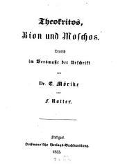 Theokritos, Bion und Moschos