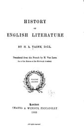 History of English Literature: Volume 2
