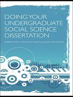 Doing Your Undergraduate Social Science Dissertation PDF