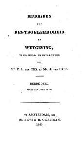 Bijdragen tot regtsgeleerdheid en wetgeving: Volume 3