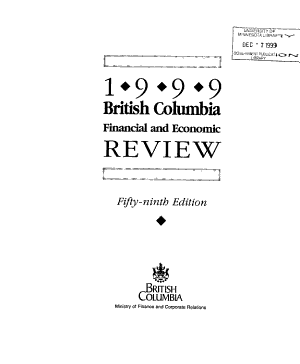 British Columbia Financial and Economic Review