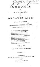 Zoonomia; Or, The Laws of Organic Life: In Four Volumes, Volume 2