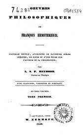 Oeuvres philosophique de François Hemsterhuis
