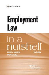 Employment Law in a Nutshell: Edition 4